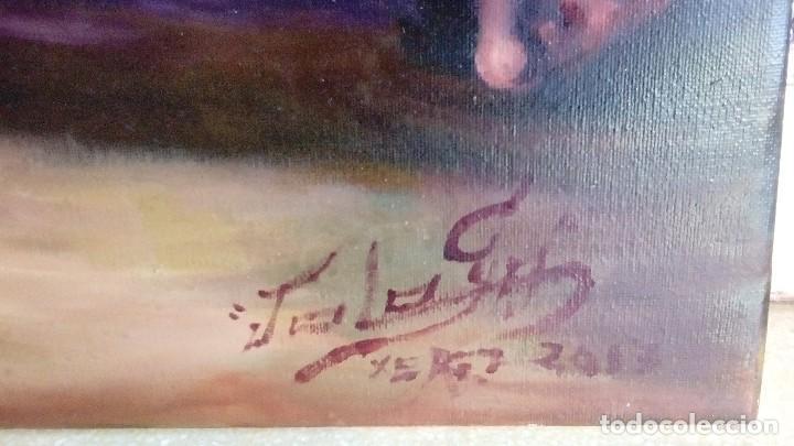 Arte: CRISTO ATADO A LA COLUMNA. FLAGELACIÓN. POR JOLOGA. 81X65. ELIGE MARCO A TU GUSTO. - Foto 8 - 121557335