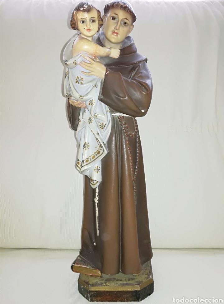 ESCULTURA DE SAN ANTONIO. (Arte - Arte Religioso - Escultura)