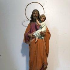 Arte - SAN JOSE CON NIÑO JESUS DE ESTUCO,MODELO OLOT. 40CM. - 121699159