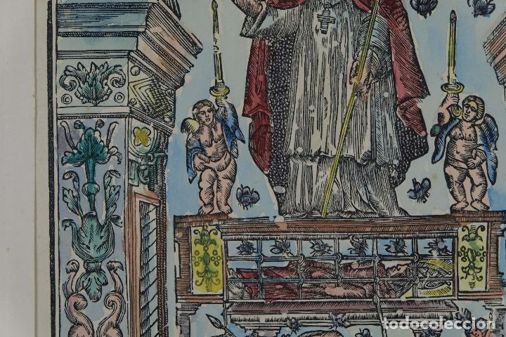 Arte: Grabado coloreado a mano San Narciso siglo XIX - Foto 5 - 121775691