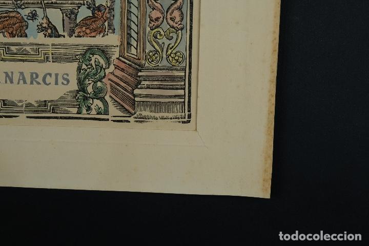 Arte: Grabado coloreado a mano San Narciso siglo XIX - Foto 8 - 121775691