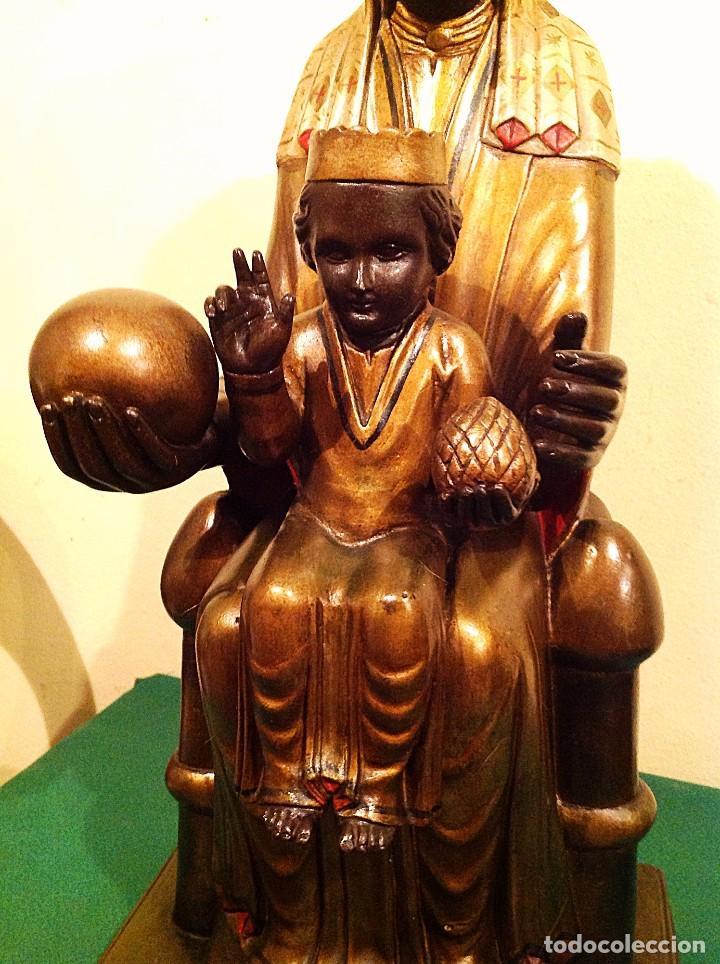 Arte: Figura De La Virgen De Montserrat Policromada Medidas 50CM - Foto 2 - 122015383
