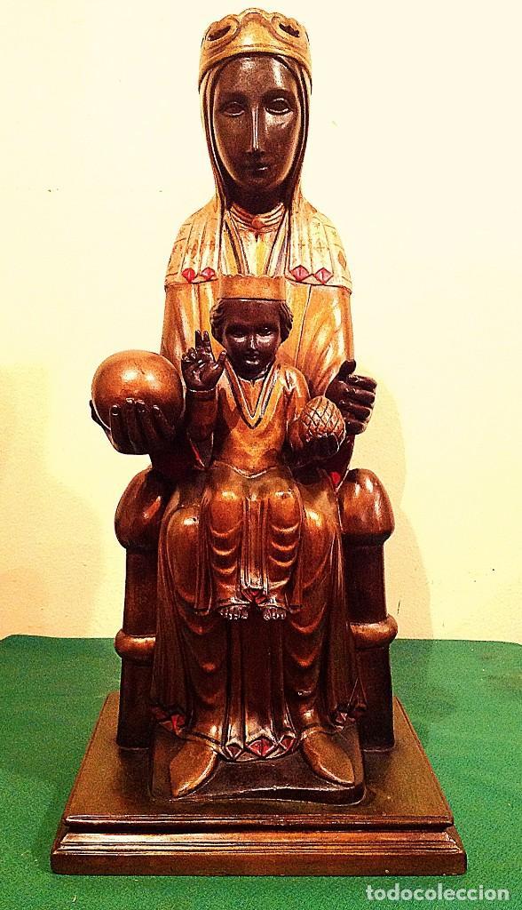 Arte: Figura De La Virgen De Montserrat Policromada Medidas 50CM - Foto 5 - 122015383
