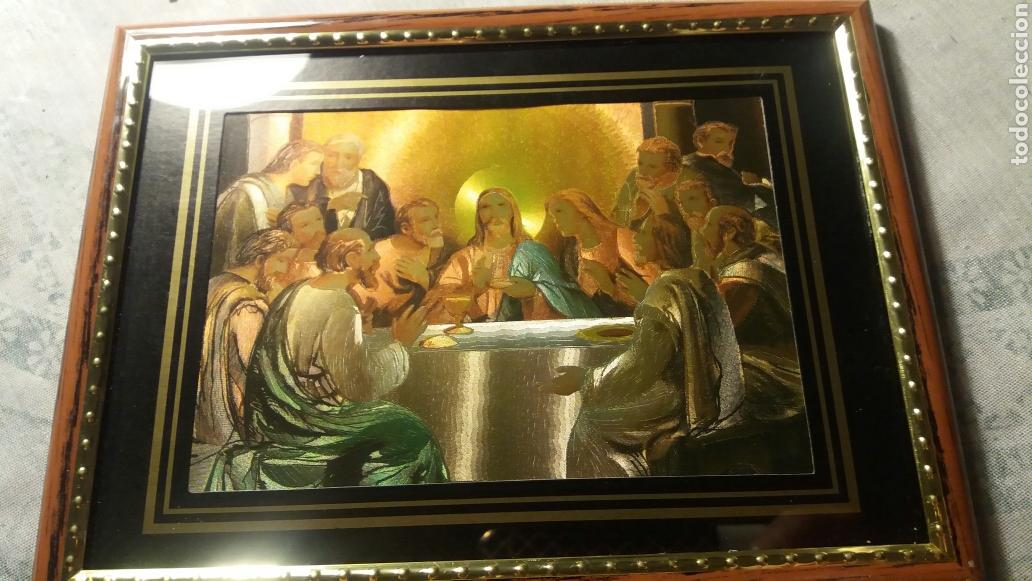 LÁMINA ENMARCADA SANTA CENA (Arte - Arte Religioso - Litografías)