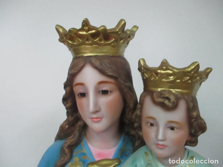 Arte: Bonita Virgen Auxiliadora - Estuco Policromado - Talleres de Olot - Altura 105 cm - S. XX - Foto 11 - 122053535