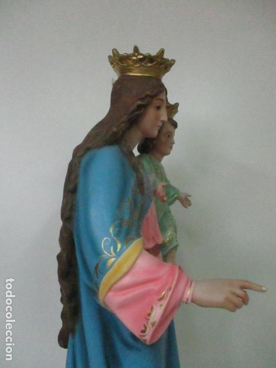 Arte: Bonita Virgen Auxiliadora - Estuco Policromado - Talleres de Olot - Altura 105 cm - S. XX - Foto 17 - 122053535