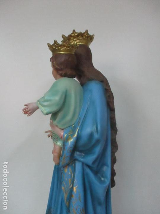 Arte: Bonita Virgen Auxiliadora - Estuco Policromado - Talleres de Olot - Altura 105 cm - S. XX - Foto 21 - 122053535