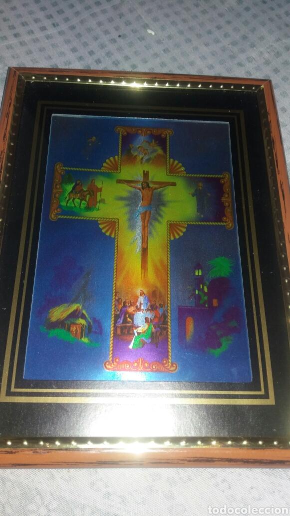 CUADRO DE CRISTO CRUCIFICADO (Arte - Arte Religioso - Litografías)