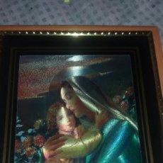 Arte: CUADRO RELIGIOSO DE LA VIRGEN CON EL NIÑO. Lote 122192400