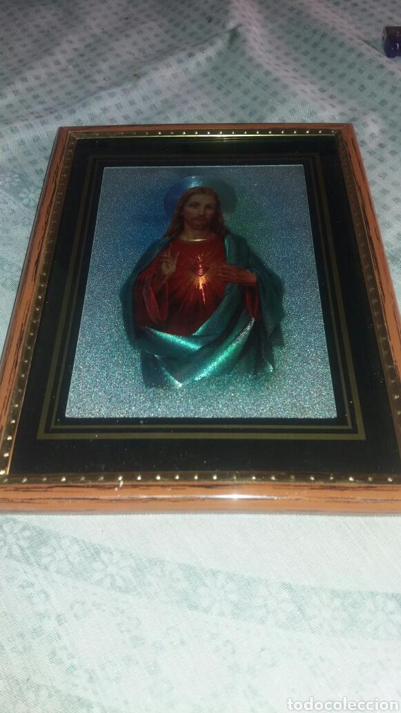 Arte: PRECIOSO CUADRO CORAZÓN DE JESÚS - Foto 2 - 122192551