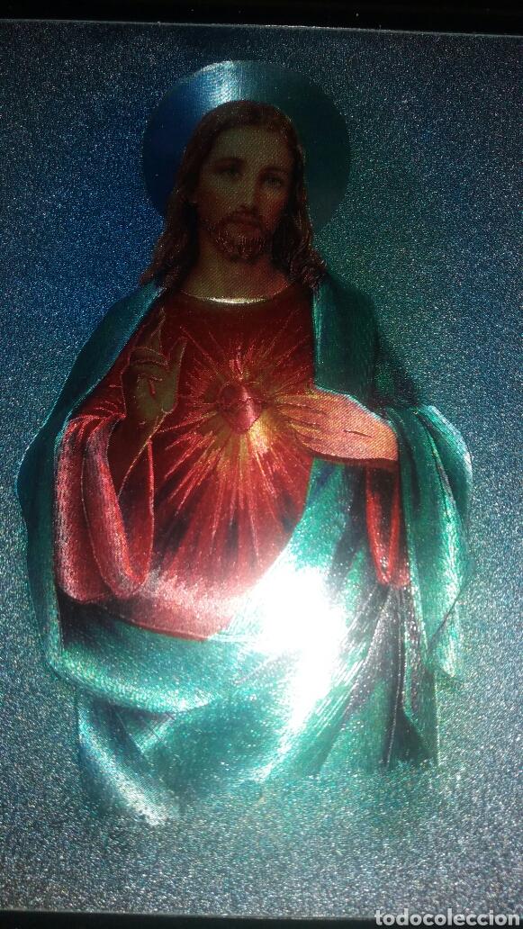Arte: PRECIOSO CUADRO CORAZÓN DE JESÚS - Foto 3 - 122192551