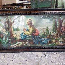 Arte: ANTIGUA Y PRECIOSA LITOGRAFIA ENMARCADA CON MARCO DE EPOCA, 98X51CM. Lote 122220203