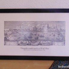 Arte: GRABADO DE -NAUMANCHIA O COMBAT NAVAL EN EL LLIT DEL TURIA-DE JOAN BAPTISTA FRANCIA AÑO 1762 T.63. Lote 176700258
