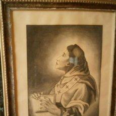 Arte: DIBUJO A CARBONCILLO ENMARCADO 1948 - FIRMADO DANIEL H. PUERTAS - SAN ALBERTO. Lote 122316671