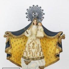 Arte: ANTIGUA ESCULTURA RELIGIOSA DE MADERA TALLADA Y POLICROMADA - VIRGEN MISERICORDIA DE REUS, SIGLO XIX. Lote 122407631