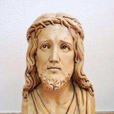 Arte: GRAN BUSTO DE CRISTO EN ESTUCO.. Lote 122617626