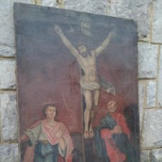 Arte: IMPRESIONANTE OBRA RELIGIOSA SIGLO XVII OLEO SOBRE LIENZO 100CM ALTO 60 LARGO. Lote 124628255