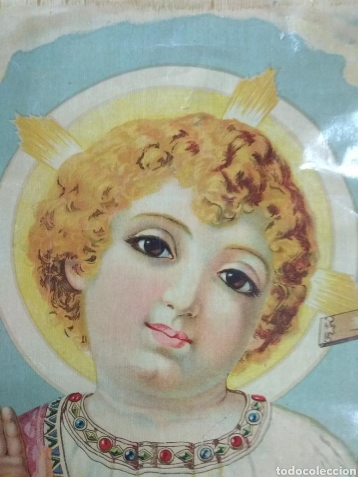 Arte: Preciosa litografía Niño Salvador. Numerada 2023. Años 20 o 30. 42 x 31 cms - Foto 2 - 123043788