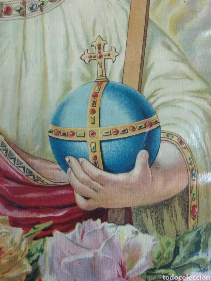 Arte: Preciosa litografía Niño Salvador. Numerada 2023. Años 20 o 30. 42 x 31 cms - Foto 3 - 123043788