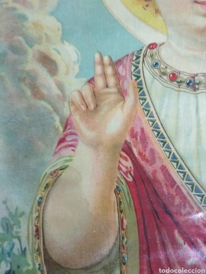 Arte: Preciosa litografía Niño Salvador. Numerada 2023. Años 20 o 30. 42 x 31 cms - Foto 4 - 123043788