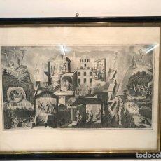 Arte: GRABADO DEL PLANO MONUMENTAL DE LA CIUDAD DE JERUSALEM EN EL TIEMPO DE Nº S .CHRISTO. 1874.. Lote 123199907