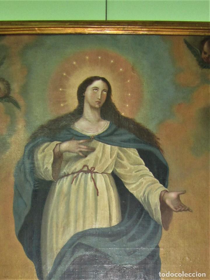 MARAVILLOSA PINTURA AL OLEO SIGLO XVIII (Arte - Arte Religioso - Pintura Religiosa - Oleo)