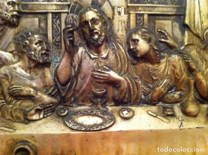 ANTIGUO BAJORELIEVE LA ÚLTIMA CENA DE JESUCRISTO 12 APÓSTOLES. ARTE RELIGIOSO. CATOLICISMO (Arte - Arte Religioso - Escultura)