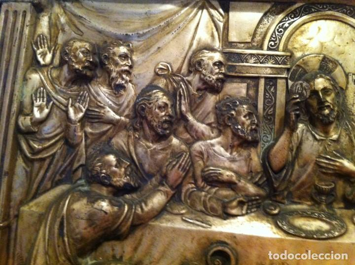Arte: Antiguo Bajorelieve La última Cena de Jesucristo 12 Apóstoles. Arte religioso. Catolicismo - Foto 2 - 123275051