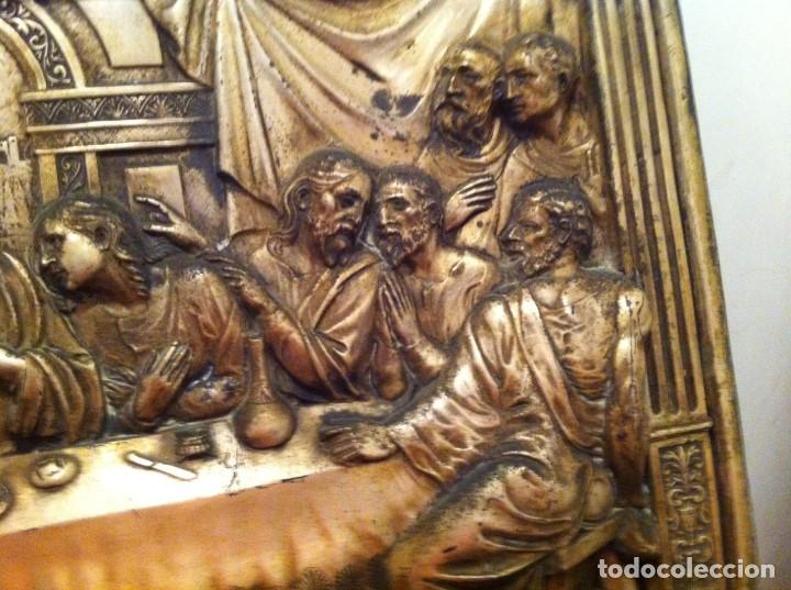 Arte: Antiguo Bajorelieve La última Cena de Jesucristo 12 Apóstoles. Arte religioso. Catolicismo - Foto 4 - 123275051