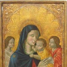 Arte: GRAN OBRA DE ARTE DEL RENACIMIENTO, ESCUELA DE LOMBARDIA/SIENA SIGLO XV, MADONNA CON BEBE, TEMPERA. Lote 123353411