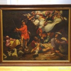 Arte: GRAN OBRA DE ARTE DEL SIGLO XVI,TALLER DE ABRAHAM BLOEMAERT(1564-1651)LA ANUNCIACION DE LOS PASTORES. Lote 123354967