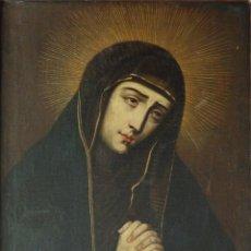Arte: VIRGEN DE LA SOLEDAD. ÓLEO SOBRE LIENZO. ESCUELA ESPAÑOLA DEL SIGLO XVII. 65 X 52 CM.. Lote 123393479