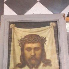 Arte: ECCE HOMO CUADRO ANTIGUO 1900 LAMINA MARCO ANTIGUO CASTAÑO RUSTICO. Lote 123416303