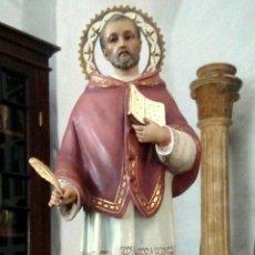 Arte: ESQUISITO ANTIGUO SAN CARLOS BORROMEO 47 CM ESTATUA RELIGIOSA OJOS DE CRISTAL . PATRÓN DE BANQUEROS. Lote 123428695