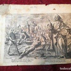 Arte: GRABADO ORIGINAL DE CLAES JANSZ VISSCHER OBRA DE MAARTEN DE VOS --BELGICA SIGLO XVI..1580. Lote 123453671