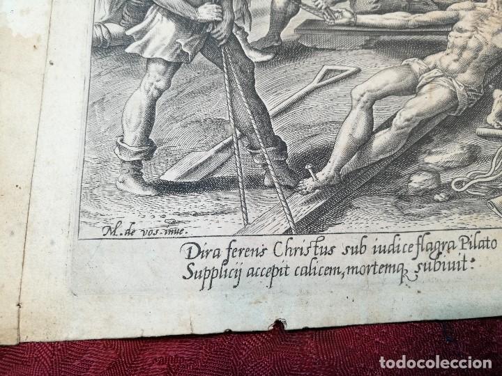 Arte: GRABADO ORIGINAL DE Claes Jansz VISSCHER OBRA DE MAARTEN DE VOS --BELGICA SIGLO XVI..1580 - Foto 17 - 123453671