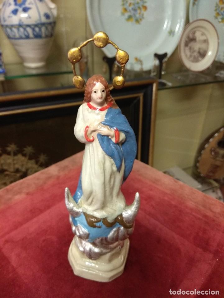 Arte: Escultura Virgen Inmaculada Terracota - Foto 6 - 123491883