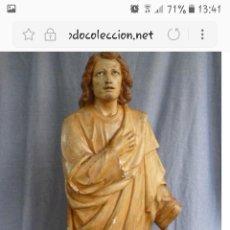 Arte: PRECIOSO SAN JUAN EVANGELISTA DE MADERA. Lote 124191014