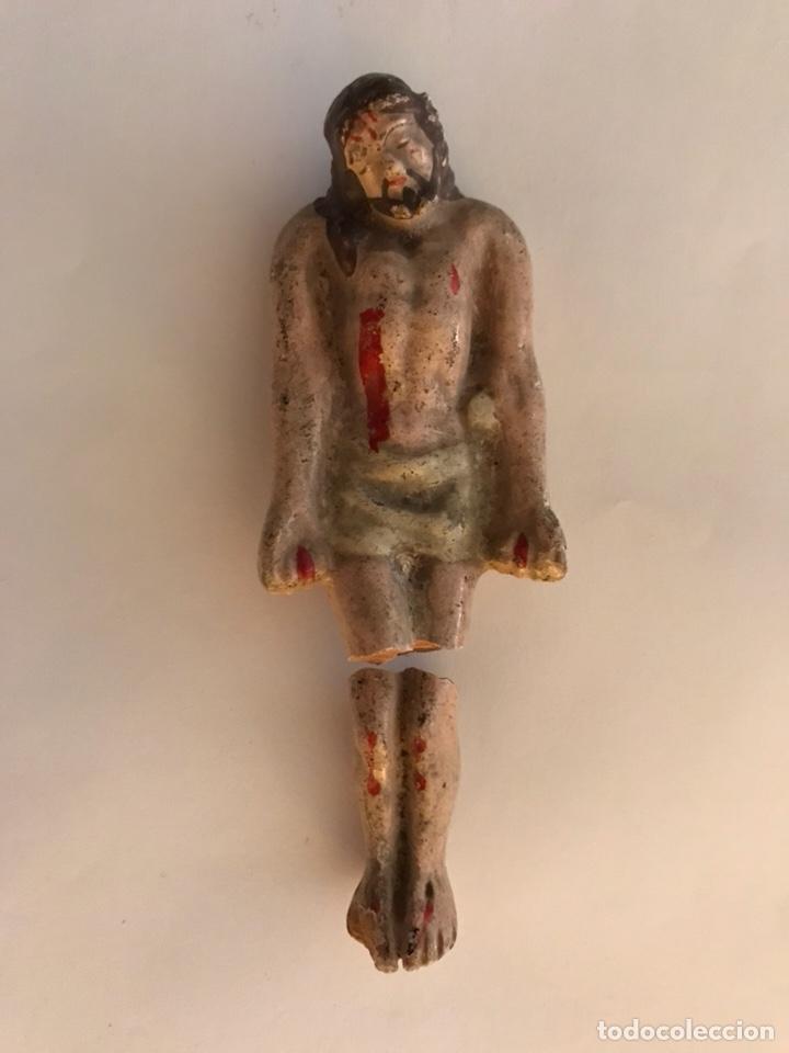CRISTO YACENTE EN TERRACOTA POLICROMADA. ESCUELA MURCIANA (FIN. SIGLO XIX) (Arte - Arte Religioso - Escultura)