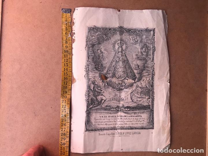Arte: Grabado Juan de Lariz siglo XVIII 1794 - V.R. DE MARIA SSMA D LA ROGATIVA MORATALLA MURCIA - Foto 4 - 124327887