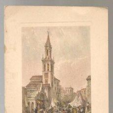 Arte: GRABADO SIGLO XX, IGLESIA DE LA FERIA EN SEVILLA , 12 X 16 CM. Lote 124511831