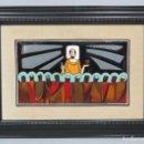 Arte: PRECIOSO ESMALTE INSTAURACION DE LA EUCARISTIA. ULTIMA CENA. HERNANDEZ. VIGO. Lote 124514351