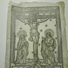 Arte: SANTO CRISTO DEL HOSPITAL GENERAL DE LA SANTA CREU DE BARCELONA. S.XVIII. 31X20 CM. Lote 124608571