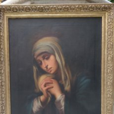 Arte: OLEO SOBRE LIENZO SIGLO XIX VIRGEN REZANDO. Lote 124715816