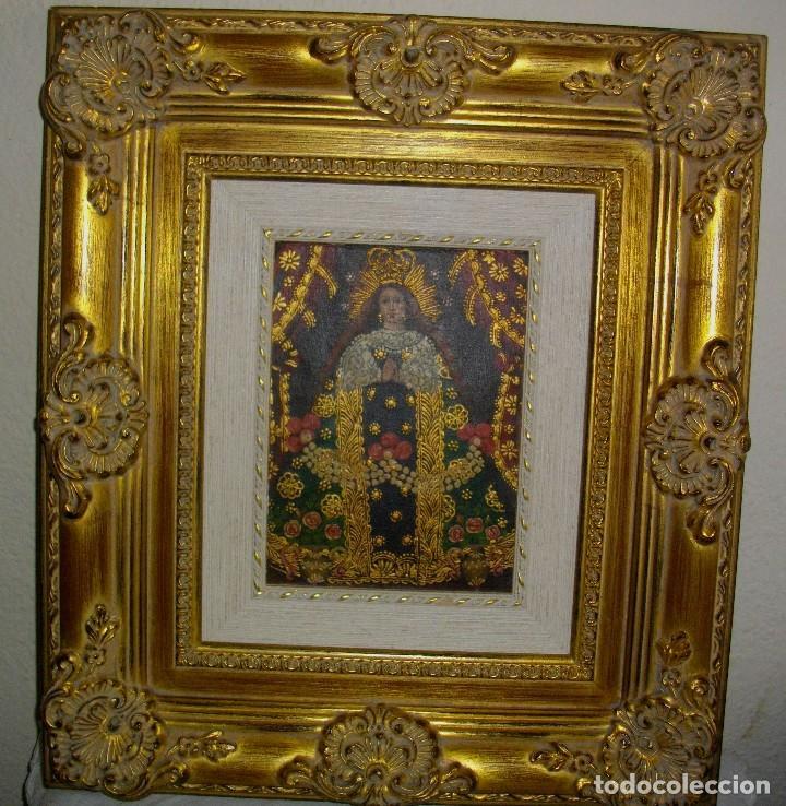 Arte: OLEO CUZQUEÑO AUTENTICO (( PERU 1999)) LIENZO ENTABLILLADO 45 X 40 CTMS - Foto 5 - 124772503