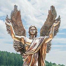 Arte: BELLISIMA FIGURA ESCULTURA MUY REALISTA EN RESINA VERONESE PATINA BRONCE Y COLORES.ANGEL METRATON.37. Lote 125027820