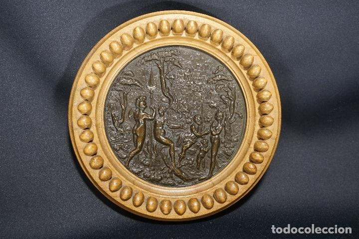 TONDO, PLACA. BRONCE. ESCENA MITOLÓGICA. FRANCIA. SIGLO XVIII - XIX. (Arte - Arte Religioso - Escultura)