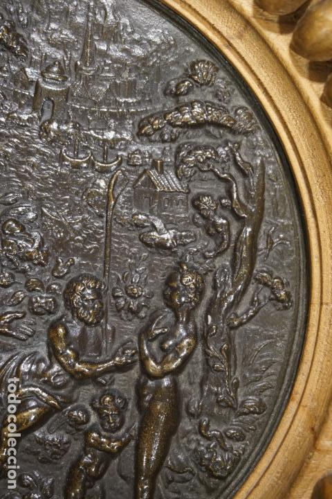 Arte: TONDO, PLACA. BRONCE. ESCENA MITOLÓGICA. FRANCIA. SIGLO XVIII - XIX. - Foto 9 - 125071807