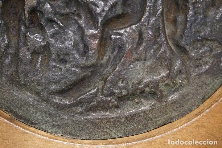 Arte: TONDO, PLACA. BRONCE. ESCENA MITOLÓGICA. FRANCIA. SIGLO XVIII - XIX. - Foto 17 - 125071807