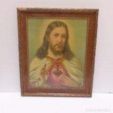 Arte: LITOGRAFIA - CORAZON DE JESUS - 1900 - 1920. Lote 125127823